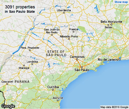 Sao Paulo State Map.Sao Paulo State Hotels Online Booking For Accommodation In Brazil