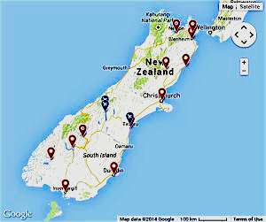 South Island New Zealand Sightseeing Tours Travel and Activities